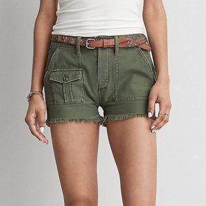 NWT American Eagle vintage hi-rise green shorts